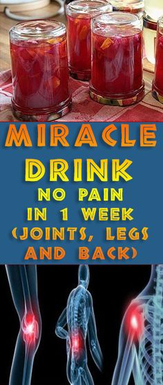 MIRACLE DRINK – NO PAIN IN 1 WEEK (JOINTS, LEGS AND BACK) -