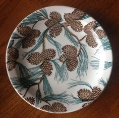 "TEPCO CHINA PINECONE PATTERN 9-3/8"" DINNER PLATE  