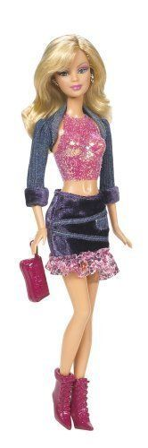 Fashion Fever Barbie Painted on Pink Crop Top H0644 J1380 | eBay