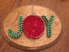 A personal favorite from my Etsy shop https://www.etsy.com/listing/575235289/custom-made-to-ordee-joy-string-art