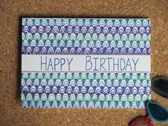 Happy birthday card hand drawn. by AmoryPapel on Etsy, $4.00