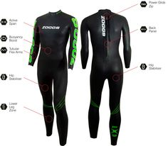 Men's FX3 Wetsuit - Designed for the swimmer who is new to or progressing in triathlon or open water swimming. The focus of this suit is a combination of all round buoyancy and flexibility. The flexibility is achieved with use of Super Stretch lining throughout the suit and 1.5mm Yamamoto #39 Smoothskin neoprene panels in the arms for unrivalled flexibility to reduce fatigue and improve performance.
