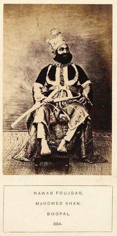 Nawab Foujdar of Bhopal, 1865-70. By Rohit Sonkiya