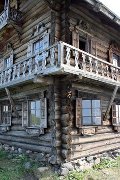 Old wooden house in Yamka settlement