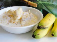 Khmer New Year treat - Banana & Tapioca Pearl in Coconut Milk