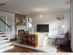Дизайн гостиной в лестничном холле - http://interior-design.pro/ru/dizayn-gostinoy-photo-interyerov