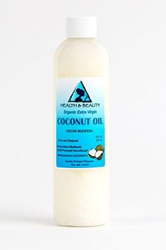 Coconut Oil Extra Virgin Organic Pure Cold Pressed Unrefined Raw 8 oz -- To view further for this item, visit the image link.
