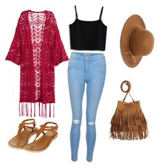 """"""""""" by ewatkins-8 ❤ liked on Polyvore featuring Chicwish, Topshop, RHYTHM, New Look and kimonos"""