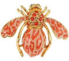 Joan Rivers Leopard Enamel Bee Pin