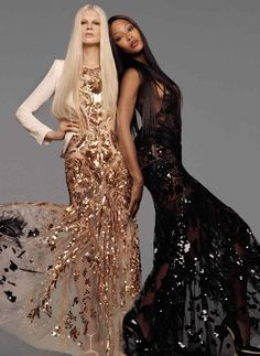 Naomi Campbell for Roberto Cavalli. This is so gorgeous, I wish this was normal life. Everyone getting along. ♥︎ Does anyone know the name of the other model, so I may include hers?