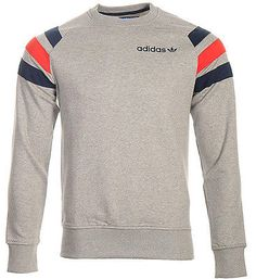 hot sale online 276fb 9eabc Mens New Adidas Originals Sweatshirt Jumper Sweater Pullover - Grey