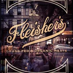 Fleishers, window decals, brand signage . . . A typo form of VS.