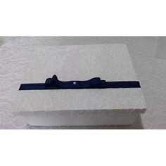 Caixa Convite Batizado Branca E Azul  - R$ 75,00