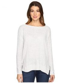 Joie Kashani Top (Porcelain/Light Heather Grey) Women's Long Sleeve Pullover