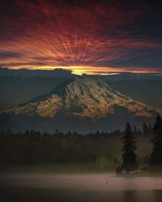 Beautiful photo of Mount Rainer. One of the most majestic photos I have seen. Near Seattle Washington Beautiful World, Beautiful Places, Landscape Photography, Nature Photography, Photography Tips, Fuerza Natural, Cool Pictures, Beautiful Pictures, Perfect Day