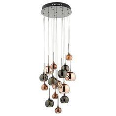 Dar AUR1564 Aurelia 15 Light Bronze   Copper Cluster Pendant Ceiling Light from Lights 4 Living