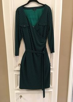 Buy my item on #vinted http://www.vinted.com/womens-clothing/casual-dresses/21431276-navy-and-green-woven-look-wrap-dress