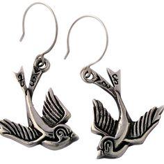 Love Bird Earrings by Femme Metale on Opensky