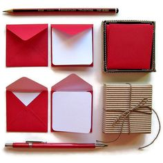 Red, Stationery, Stationery Set, Blank Note Cards, Valentines Day,... (€8,62) ❤ liked on Polyvore featuring home, home decor and stationery