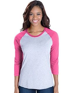 Special Offer: $1.68 amazon.com Basic and beautiful meet fashion in these ladies raglan baseball tees, featuring a variety of colors. These short sleeve t-shirts for women feature a slightly longer length with contoured styling to fit your body and keep up with today's style. Looks...
