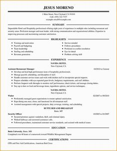 Business 4 Resume Examples Sample Resume Resume Resume Examples