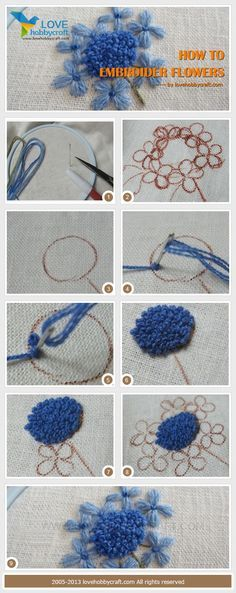 How to embroider flowers