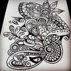 Zentangle doodle. color this in, and I would get this as a tattoo