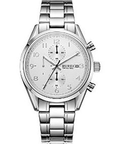 RRP £159.99 NOW £32.99 !!!!! BUREI Men's Precise Chronograph Quartz Multifunction Wrist Watches with White Dial Scratch-resistant Sapphire Crystal #watches #designerwatches #cheapwatches #shopping #sale