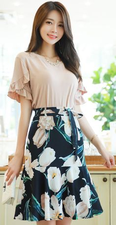 Korean Women`s Fashion Shopping Mall, Styleonme. Cute Fashion, Modest Fashion, Girl Fashion, Fashion Dresses, Womens Fashion, Fashion Trends, Fashion Models, Classy Outfits, Cute Outfits