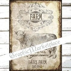 Farm Cow Fresh Milk Large Image Instant by GraphicMarketplace