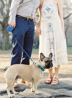 Central Park engagement with a Frenchie: http://www.stylemepretty.com/2014/07/11/central-park-engagement-with-a-frenchie/ | Photography: http://www.vickigraftonphotography.com/