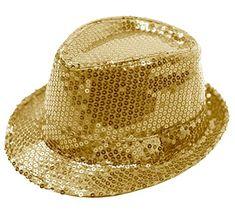 Cravatta Cappello BRETELLE-Oro Sequin Sparkle Geek Costume KIT-occhiali