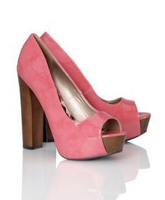 Chunky wooden heels are so 70's cute! (even though they're 5 inches, there probably comfortable)