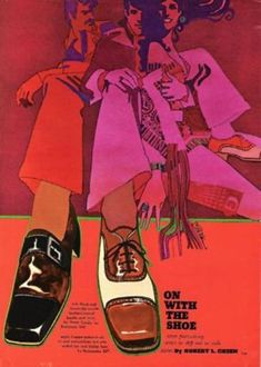 Sixties' shoe ad (artwork by Bob Peak) Retro Advertising, Vintage Advertisements, Vintage Ads, Bob Peak, Pop Art, Art Through The Ages, Grafik Design, Art Design, Looks Cool