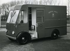 Date: 1969 Finding number: POST Electric Power, Electric Cars, Last Mile, Old Lorries, Step Van, Old Commercials, Power Cars, Vintage Vans, Commercial Vehicle