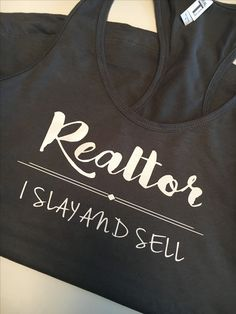 Womans the most funny realtor tshirt closing deal in high heels realtor i slay and sell tank gym tank 1900 receive coupon code for fandeluxe Gallery