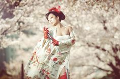 Shooting it: Portraits in Cherry Blossoms / 桜でポートレート