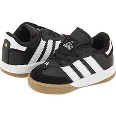 adidas Kids Samba® Millennium Core (Infant/Toddler) Black/Running White - Zappos.com Free Shipping BOTH Ways