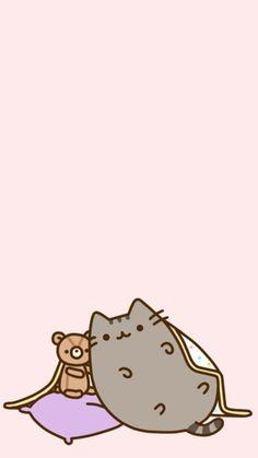 Snuggly Pusheen Kitty Wallpaper, Kawaii Wallpaper, Wallpaper Iphone Cute, Cartoon Wallpaper, Samsung Wallpapers, Chat Pusheen, Cute Christmas Wallpaper, Cats Tumblr, Cute Backgrounds