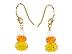 Candy Corn Earrings Kit featuring Swarovski Crystal