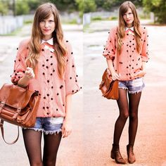Tea And Tulips Slouchy Dot Sweater