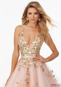 Mori Lee Tulle A Line Dress 99032