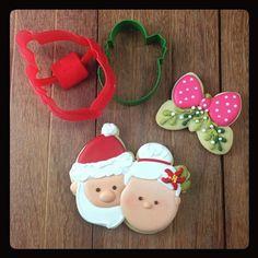 Santa Claus & Mrs Claus cookie // Klickitat Street