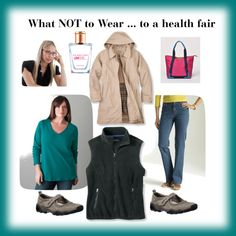 """What NOT to Wear ... to a health fair"" by beautyandserendipity on Polyvore"