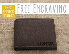 Mens Wallet - Custom Engraved Brown Leather Bifold Wallet, Groomsmen Gifts,  Engraved Wallet, Gifts for Dad, Monogram Wallet 2ac2bc8138d