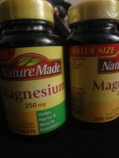 Nature Made Magnesium 400 Tablets HELPS Nerve and Muscle Function List No 1718 | eBay