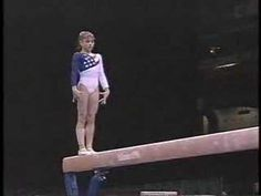 ▶ Dominique Moceanu - 1996 Olympics Team Optionals - Balance Beam - YouTube The mount is soooo cool!!!