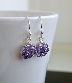 Tanzanite Purple Cubic Zirconia Sterling Silver by SomsStudio, $22.00