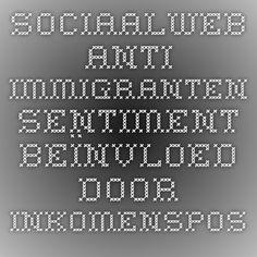 Sociaalweb - Anti-immigranten sentiment beïnvloed door inkomenspositie en bestaansonzekerheid