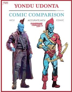 "5,462 Likes, 34 Comments - • Accurate.MCU • mcu fanpage (@accurate.mcu) on Instagram: ""• YONDU UDONTA - COMIC COMPARISON 2.0 • I freaking love @michael_rooker as Yondu in the MCU. I also…"""
